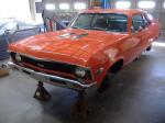 1968 Chevy II Nova SS 396 4 speed hugger orange stainless steel headers
