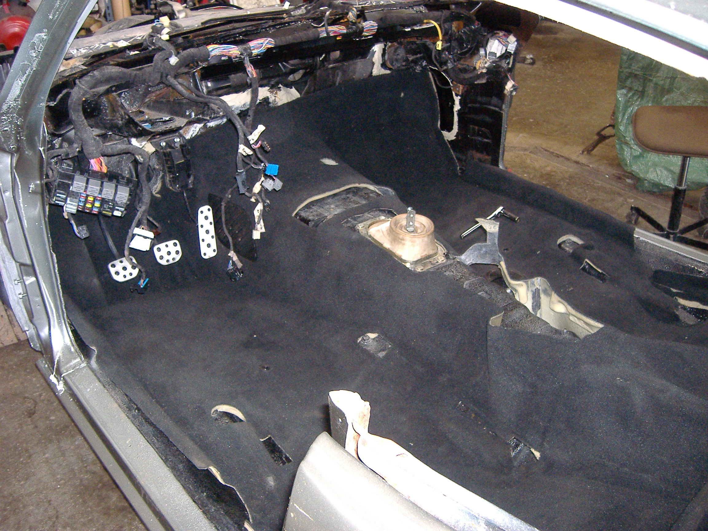 1969 pontiac gto assembly test fitting carpet from 2006 gto