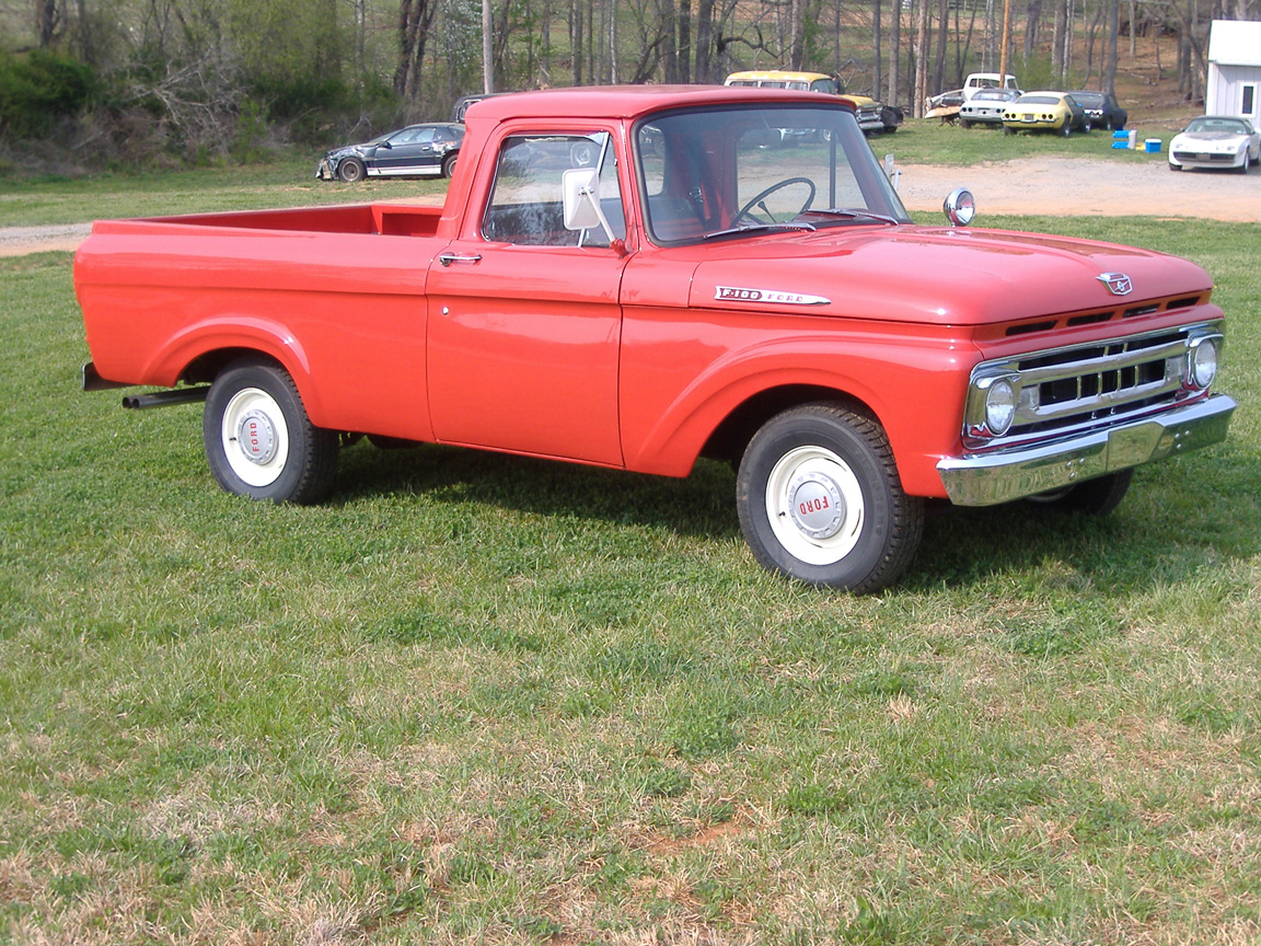 1961 Ford Uni Body Truck Final Lr F100 Short Bed